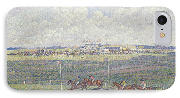The Racecourse At Boulogne-sur-mer Phone Case by Theo van Rysselberghe