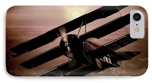 IPhone Case featuring the photograph The Red Baron's Fokker At Sunset by Chris Lord