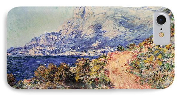 The red road near menton painting by claude monet for Road case paint