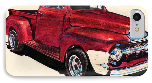 The Red Truck IPhone Case by Cheryl Poland