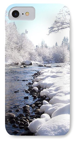 The River In Winter IPhone Case by Peter Mooyman