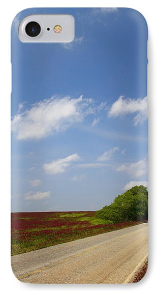 The Road Ahead Is Lined In Red Phone Case by Kathy Clark