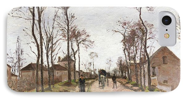 The Road To Saint Cyr At Louveciennes Phone Case by Camille Pissarro