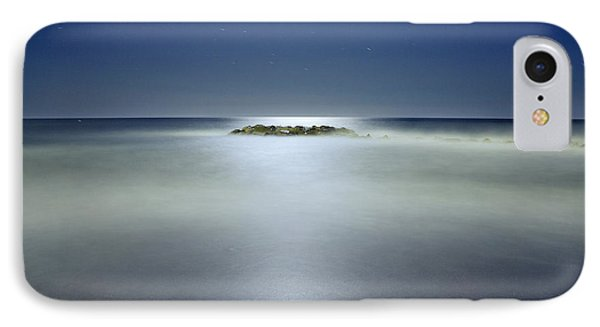 The Rock Island Under De Moonlight Phone Case by Guido Montanes Castillo