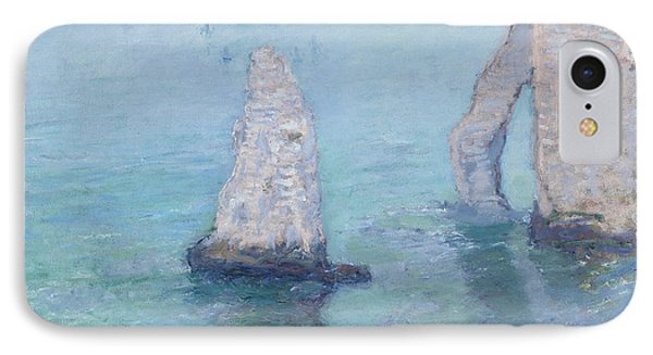 The rock needle and the porte d 39 aval painting by claude monet for Porte 7th sea