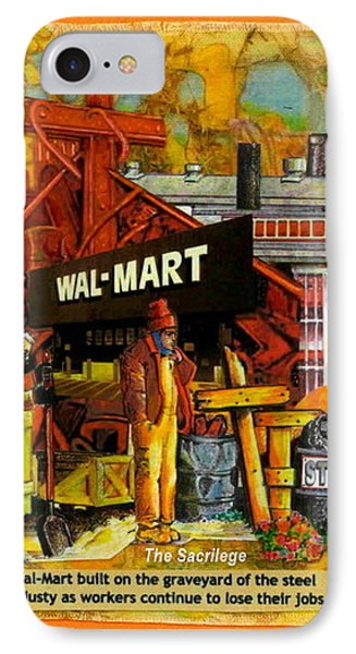 The Sacrilege Walmart Built In Grave Yard Of Steel Industry Phone Case by Ray Tapajna