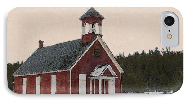 The School House Painterly Phone Case by Ernie Echols