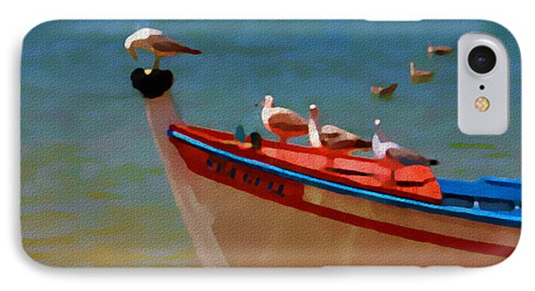 The Sea Gulls IPhone Case by Jann Paxton