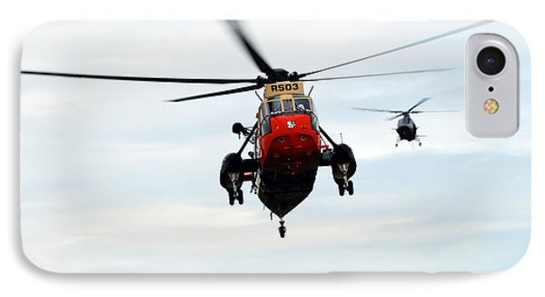 The Sea King Helicopter And The Agusta Phone Case by Luc De Jaeger