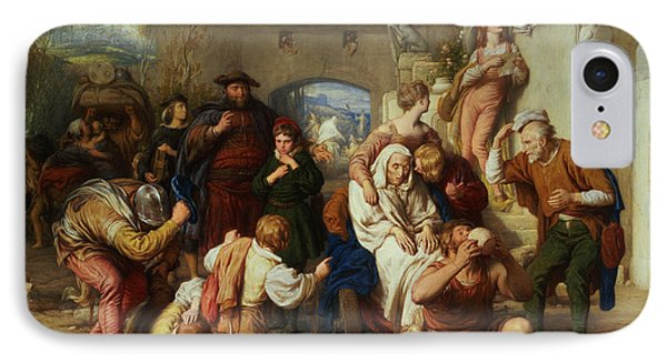 The Seven Ages Of Man Phone Case by William Mulready