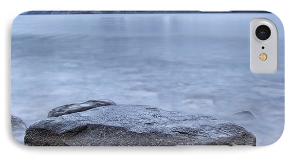 The Shoreline Of Kathleen Lake In Late Phone Case by Robert Postma