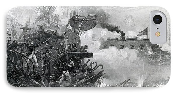 The Sinking Of The Cumberland, 1862 Phone Case by Photo Researchers