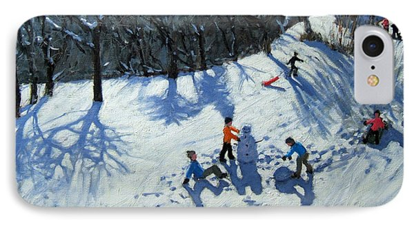 The Snowman  IPhone Case by Andrew Macara
