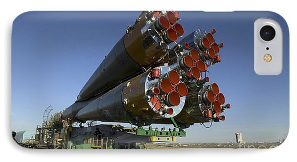 The Soyuz Rocket Is Rolled Phone Case by Stocktrek Images