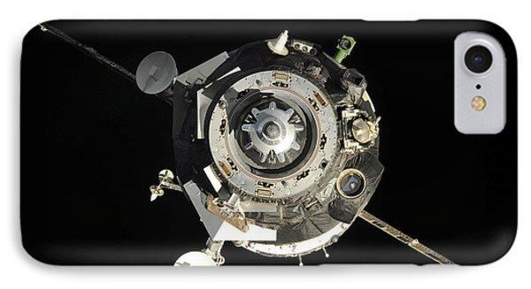The Soyuz Tma-17 Spacecraft Departs Phone Case by Stocktrek Images