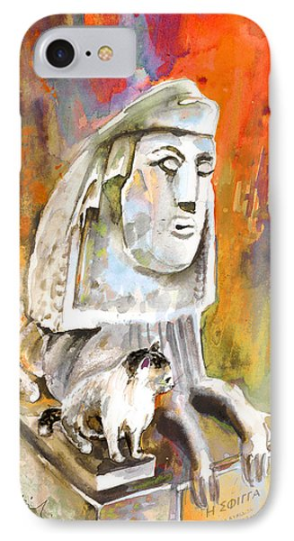 The Sphinx Of Petraion IPhone Case by Miki De Goodaboom