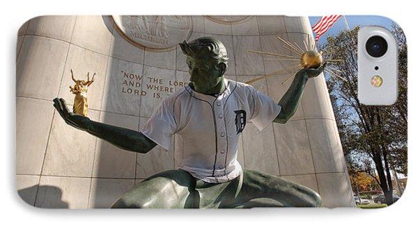 The Spirit Of Detroit Tigers Phone Case by Gordon Dean II