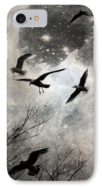 The Stars Birds And Clouds IPhone Case by Gothicrow Images
