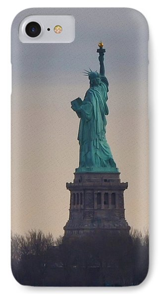 The Statue Of Liberty Phone Case by Bill Cannon