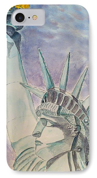 The Statue Of Liberty IPhone Case by Eva Ason