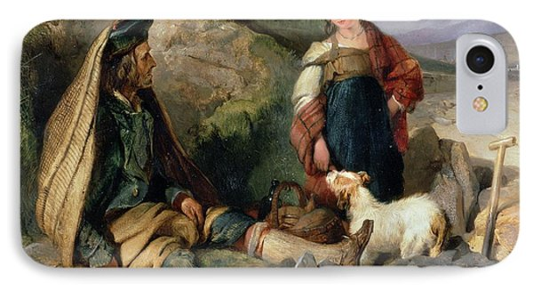 The Stone Breaker And His Daughter Phone Case by Sir Edwin Landseer