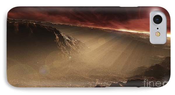 The Sun Rises Over Gale Crater, Mars IPhone Case by Steven Hobbs
