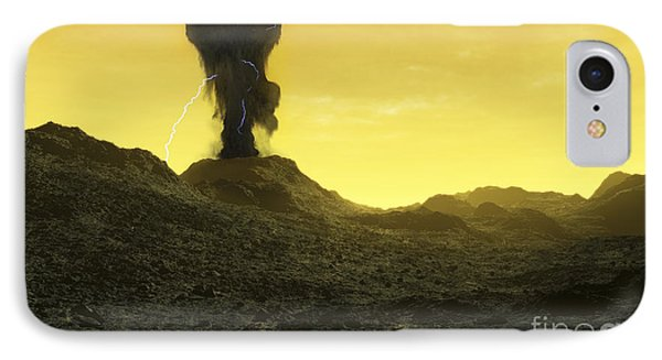 The Surface Of An Infernal Planet Phone Case by Fahad Sulehria