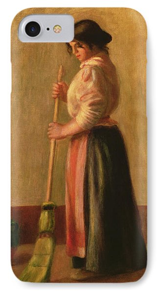 The Sweeper Phone Case by Pierre Auguste Renoir
