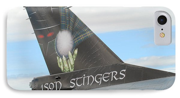 The Tail Of A Belgian F16 Aircraft Phone Case by Luc De Jaeger