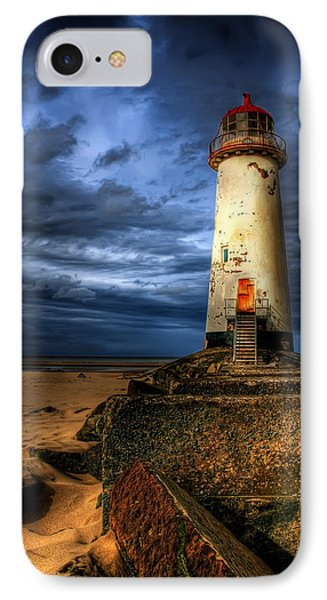 The Talacre Lighthouse IPhone Case by Adrian Evans