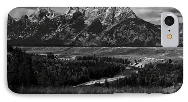 The Tetons - Il Bw IPhone Case by Larry Carr