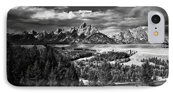 The Tetons IPhone Case by Larry Carr