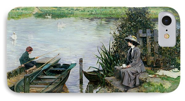 The Thames At Benson Phone Case by Albert Chevallier Tayler