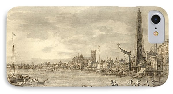 The Thames Looking Towards Westminster From Near York Water Gate  Phone Case by Giovanni Antonio Canaletto