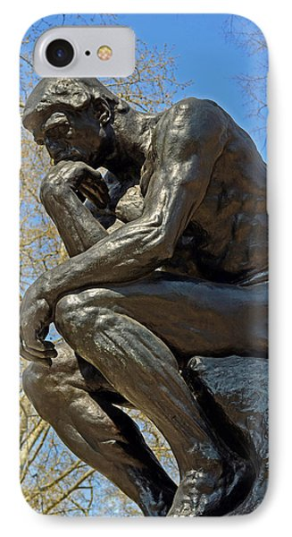 The Thinker By Rodin IPhone Case by Lisa Phillips