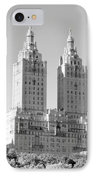 The Towers In Black And White Phone Case by Rob Hans