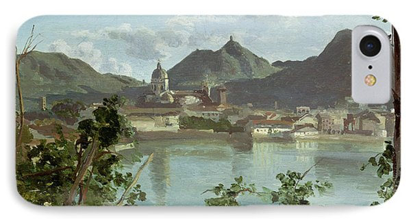 The Town And Lake Como Phone Case by Jean Baptiste Camille Corot