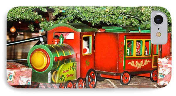 IPhone Case featuring the photograph The Toy Train by Ann Murphy