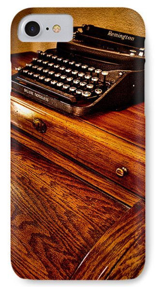 The Typewriter Phone Case by David Patterson