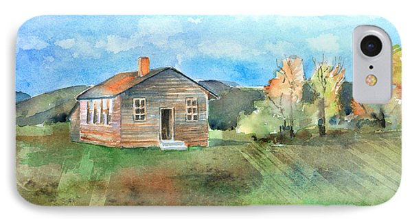 The Vacant Schoolhouse Phone Case by Arline Wagner