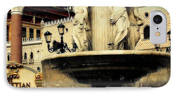 The Venetian Fountain In Las Vegas Phone Case by Susanne Van Hulst