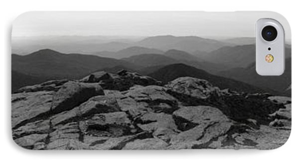 The View North From Mt. Marcy Black And White Three IPhone Case by Joshua House