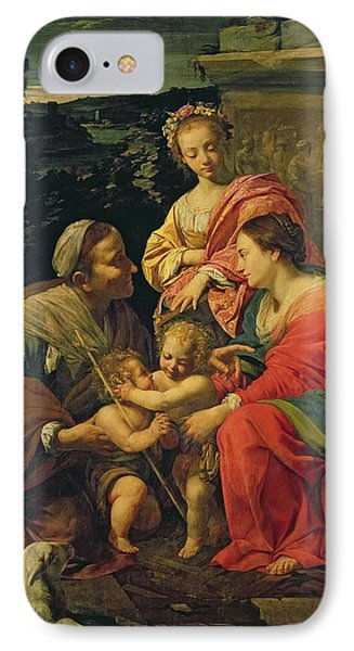 The Virgin And Child With Saints Phone Case by Simon Vouet