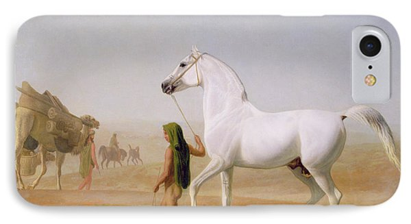 The Wellesley Grey Arabian Led Through The Desert Phone Case by Jacques-Laurent Agasse