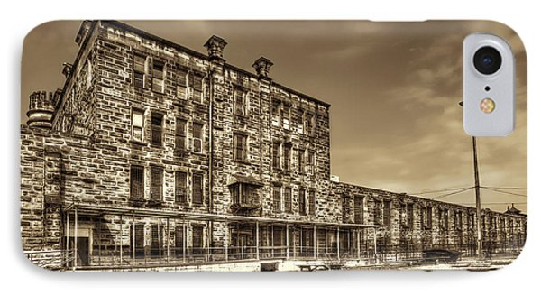 The West Virginia State Penitentiary Backside Phone Case by Dan Friend