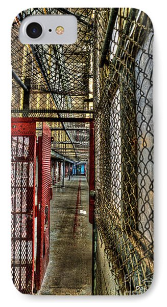 The West Virginia State Penitentiary Cell Hallway Phone Case by Dan Friend