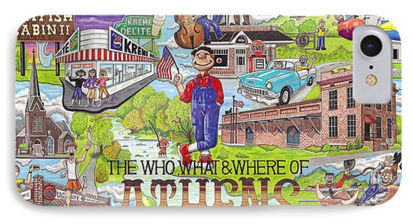 The Who What And Where Of Athens Alabama Phone Case by Shawn Doughty