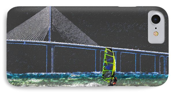 The Wind Surfer Phone Case by David Lee Thompson