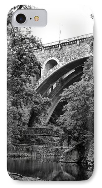 The Wissahickon Creek And Henry Avenue Bridge Phone Case by Bill Cannon