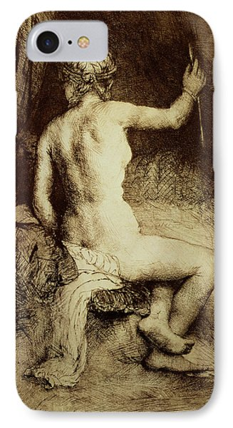 The Woman With The Arrow IPhone Case by Rembrandt Harmensz van Rijn